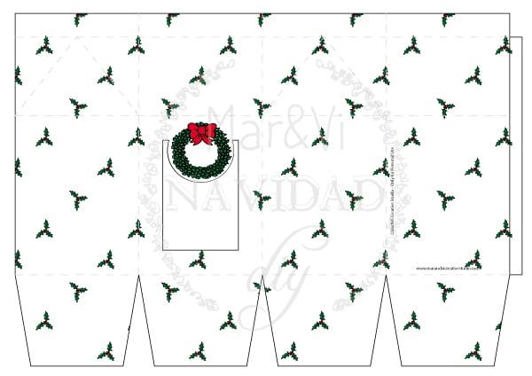 Regalos de Navidad, imprime tu caja para galletas | Pequeocio.com