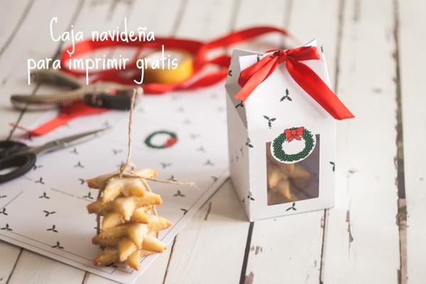 Regalos de navidad imprime tu caja para galletas pequeocio for Regalos navidenos caseros