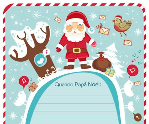 Cartas A Papa Noel 5 Plantillas Para Imprimir Gratis Pequeocio Com