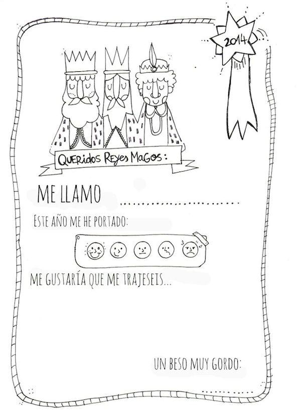 Carta a los Reyes Magos, ¡imprime gratis 4 modelos! - Pequeocio