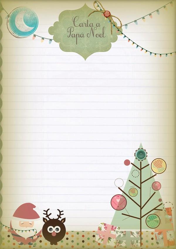 Cartas a pap noel 5 plantillas para imprimir gratis pequeocio - Plantillas pared ...