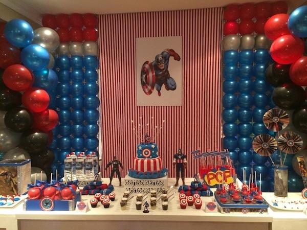 Decoracion Fiesta De Capitan America