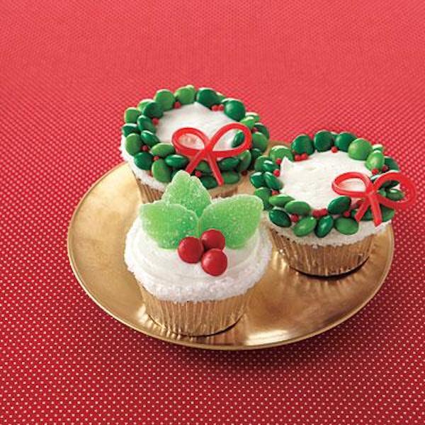postres navideos para nios cupcakes con coronas