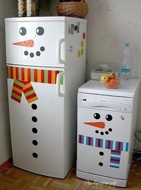 adornos de navidad nevera de nieve