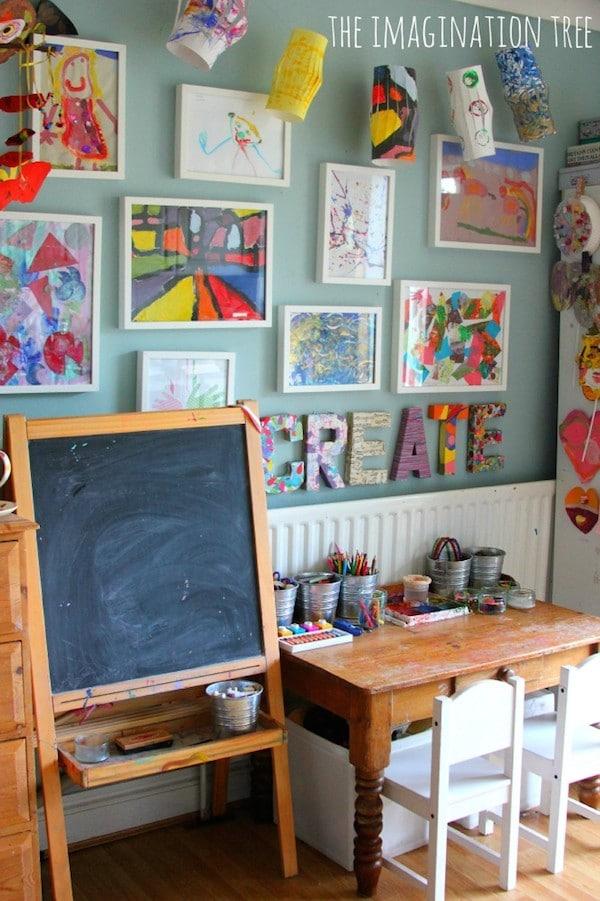 Decorar paredes con los dibujos de los ni os pequeocio - Dibujos paredes infantiles ...