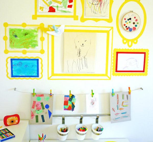 Dibujos Para Decorar Paredes De Habitaciones Infantiles.Decorar Paredes Con Los Dibujos De Los Ninos Pequeocio Com