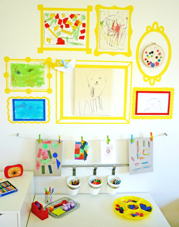 Decorar paredes con los dibujos de los ni os pequeocio - Paredes para ninos ...