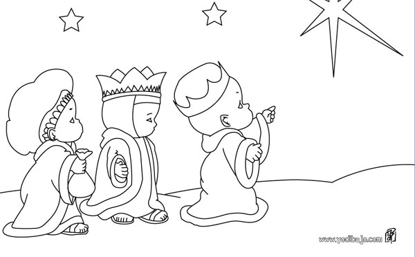 Dibujos infantiles de Reyes Magos