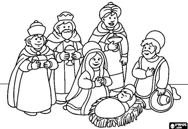 Dibujos Para Colorear De Los Tres Reyes Magos: 10 Dibujos De Los Reyes Magos Para Colorear Gratis