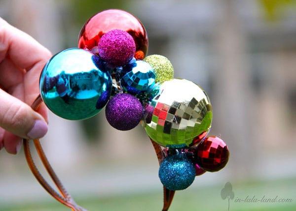 disfraces de navidad originales diadema de bolas