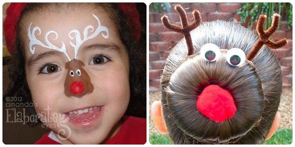 Disfraces de Navidad para niños: reno Rudolf