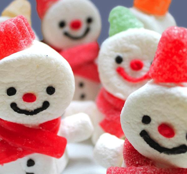 10 recetas de navidad dulces mu ecos de nieve - Arboles de navidad de chuches ...