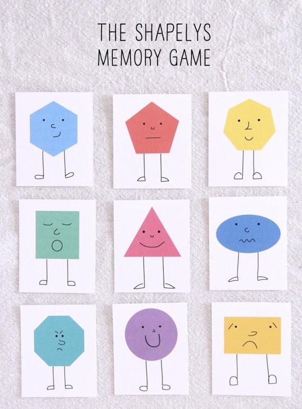 Juegos de memoria para imprimir