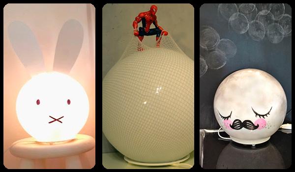 Lámparas infantiles personalizadas
