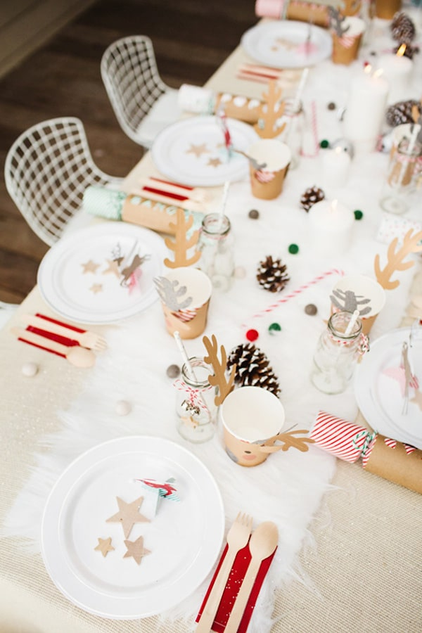 Mesa navideña para niños