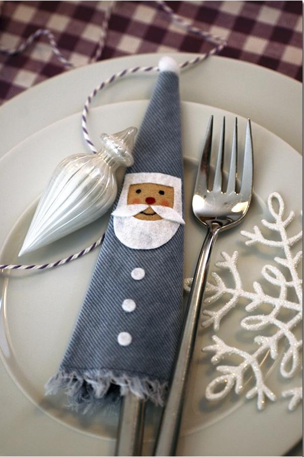 Detalles para la mesa navideña