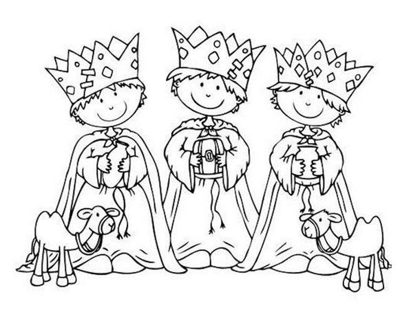 Dibujos de los Reyes Magos ¡para colorear!  PequeOcio ...