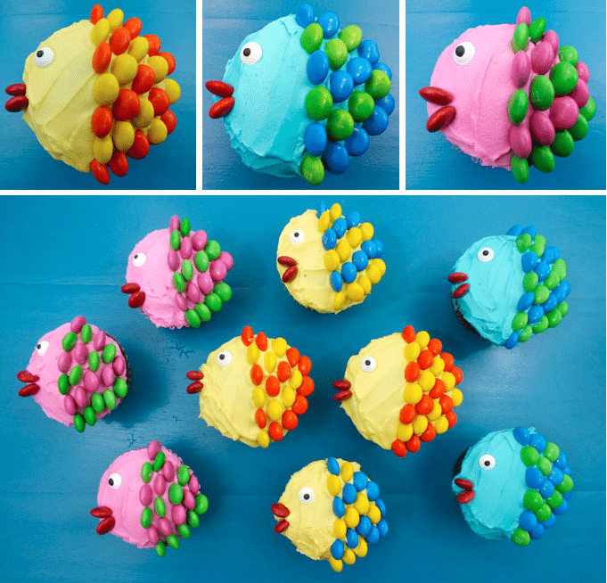 cupcakes originales peces cupcakes para cumpleaos