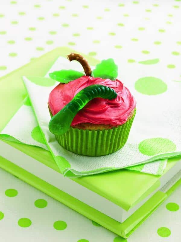 decorar cupcakes de manzana