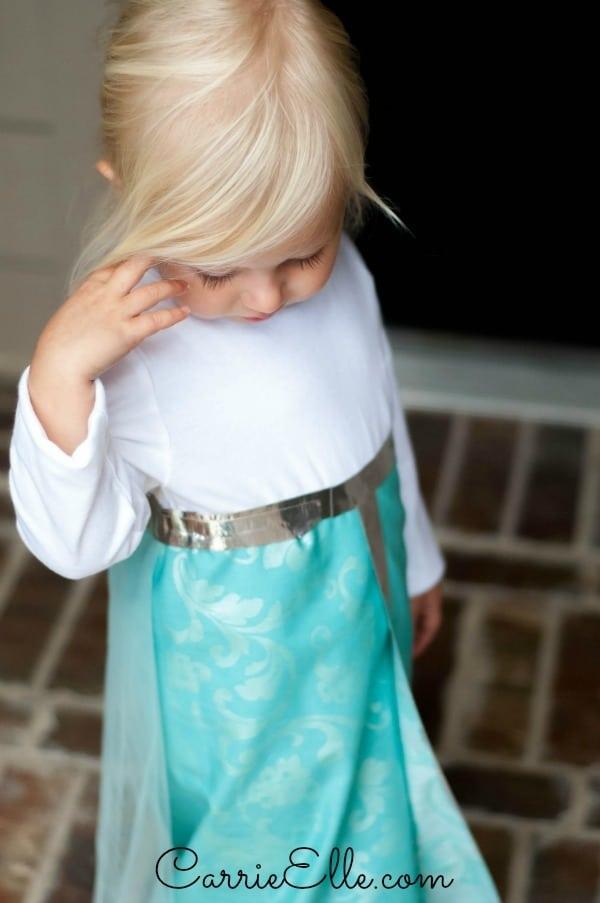 Disfraz fácil de Elsa