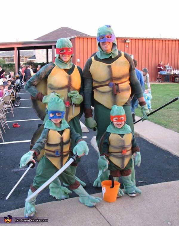 Disfraces para familias: Tortugas Ninja