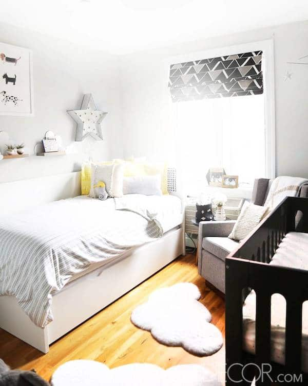 Delightful Newborn Baby Room Decorating Ideas: 6 Habitaciones Infantiles Compartidas