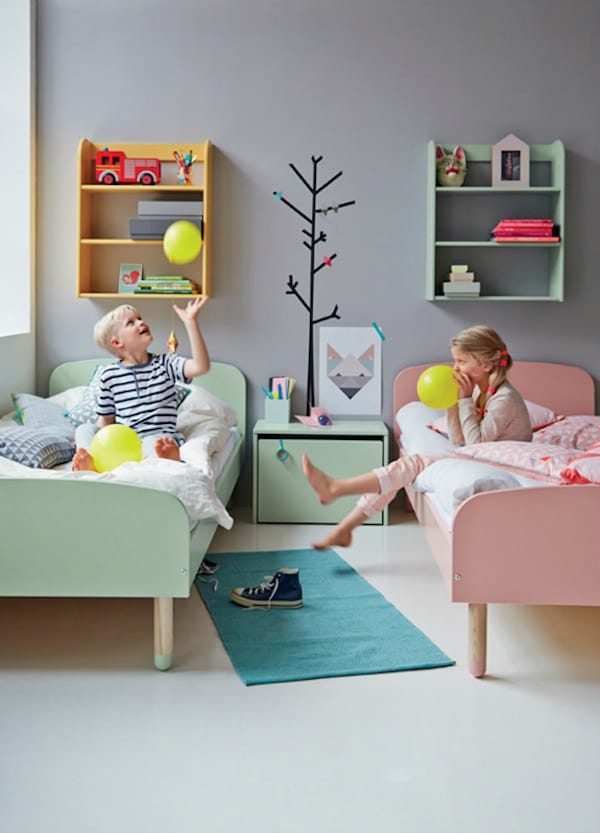 6 habitaciones infantiles compartidas pequeocio for Cuartos montessori para ninas