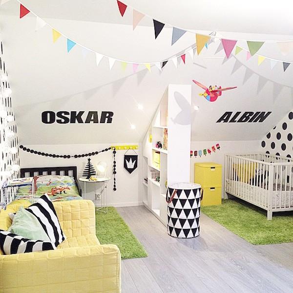6 habitaciones infantiles compartidas pequeocio - Letras para habitaciones infantiles ...