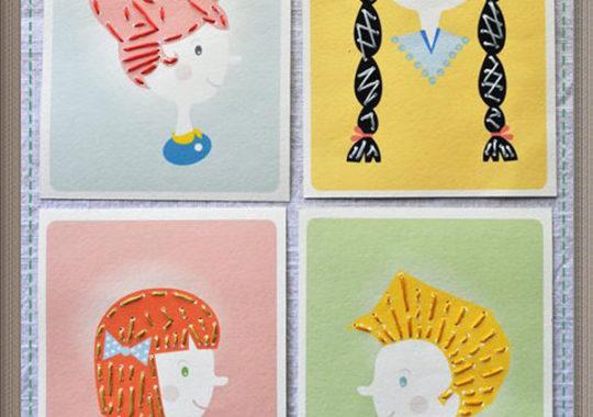 Manualidades para niños de bordado