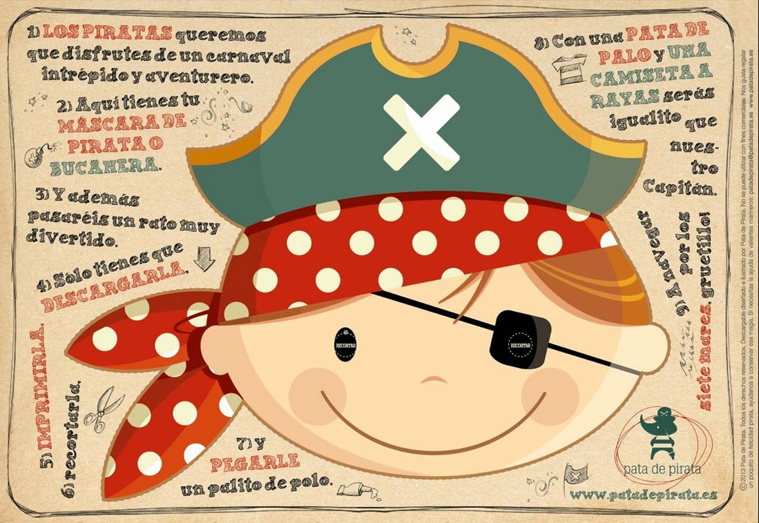 Máscaras de piratas