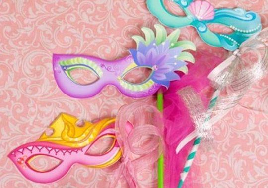Máscaras de Carnaval de princesas