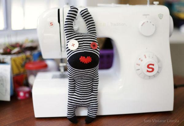 Muñecos de peluche con calcetines