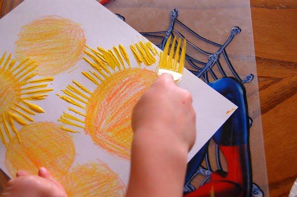 Pintar con los niños