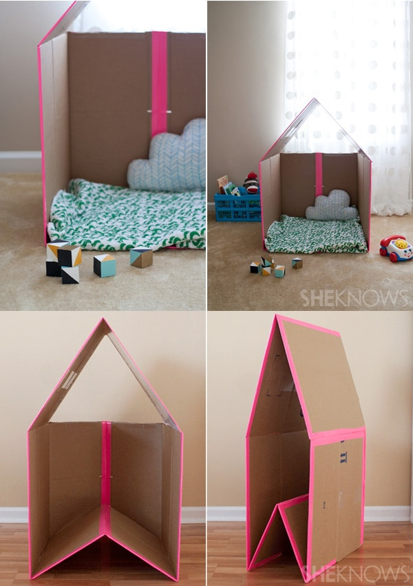 Manualidades con cart n 5 juguetes caseros pequeocio - Casa carton ninos ...