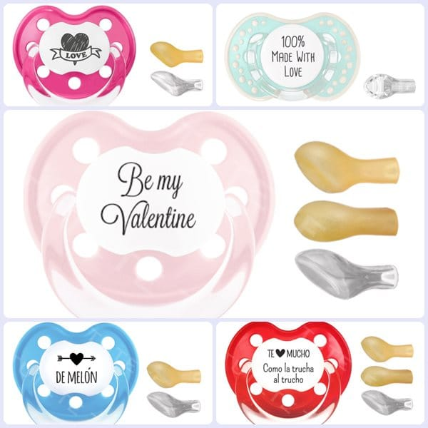 San Valentín: chupetes personalizados