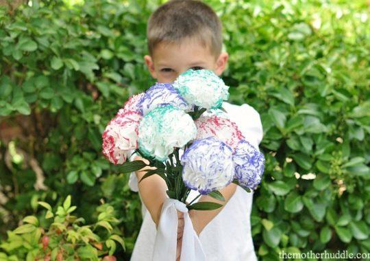 Flores de papel fáciles