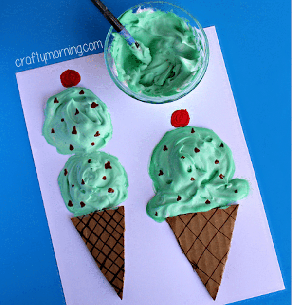 ice cream craft ideas c 243 mo hacer pintura de relieve casera pequeocio 4726