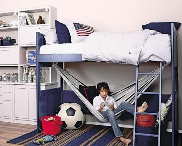 Ganar espacio con camas altas