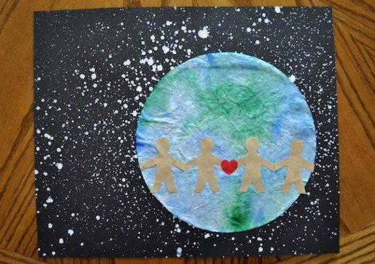 Manualidades infantiles dia de la Tierra