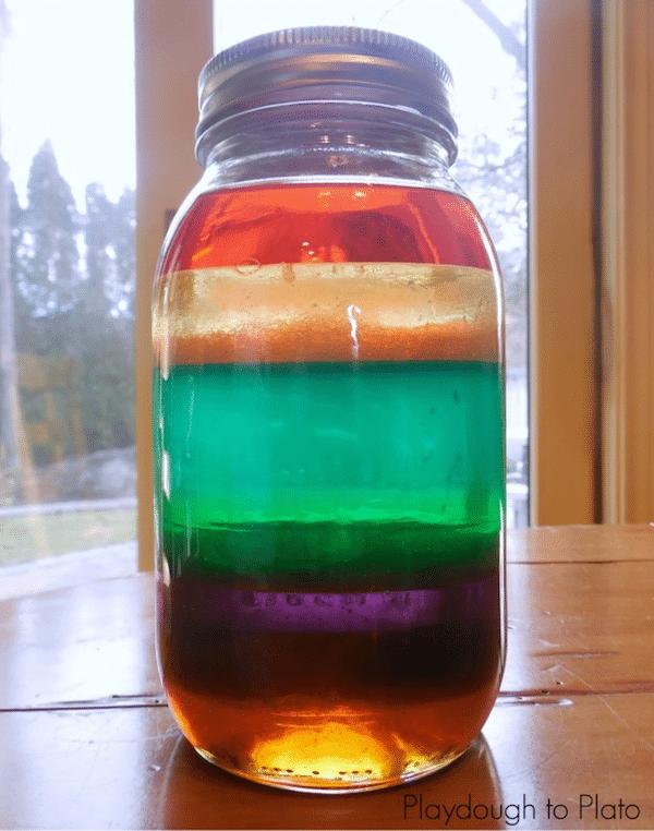 Experimentos infantiles con frascos
