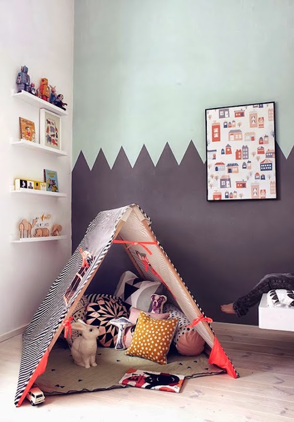Habitaciones infantiles con tiendas