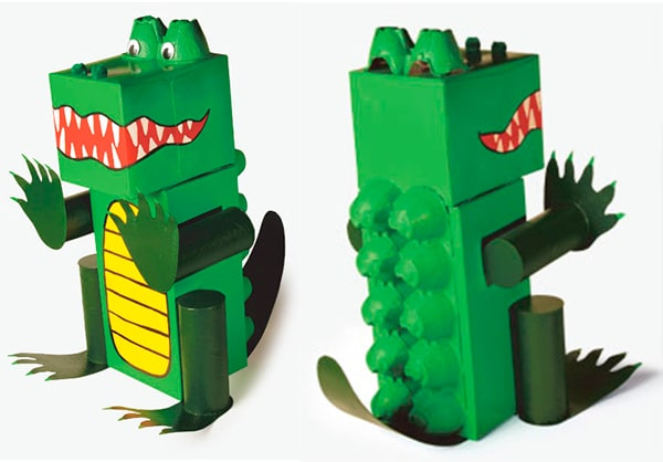 Manualidades recicladas, 5 animales de cartón - PequeOcio