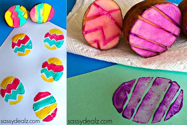 manualidades infantiles huevos de pascua divertidos