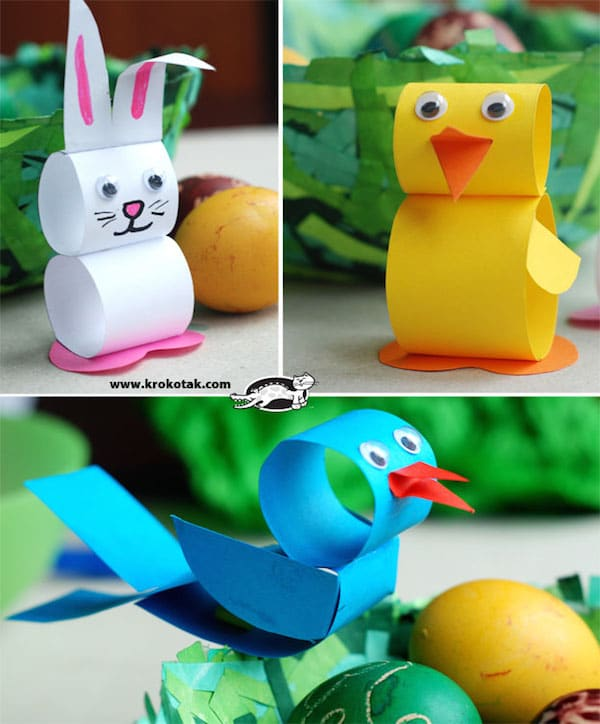 Animales f ciles de papel - Manualidades con papel craft ...