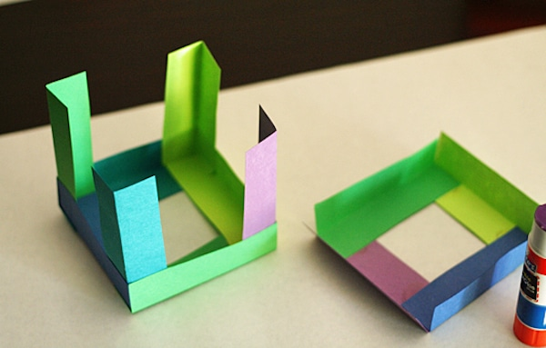 Cubos de papel