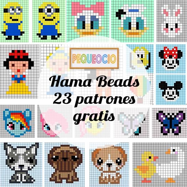23 Patrones Hama Beads Para Descargar Gratis Pequeocio