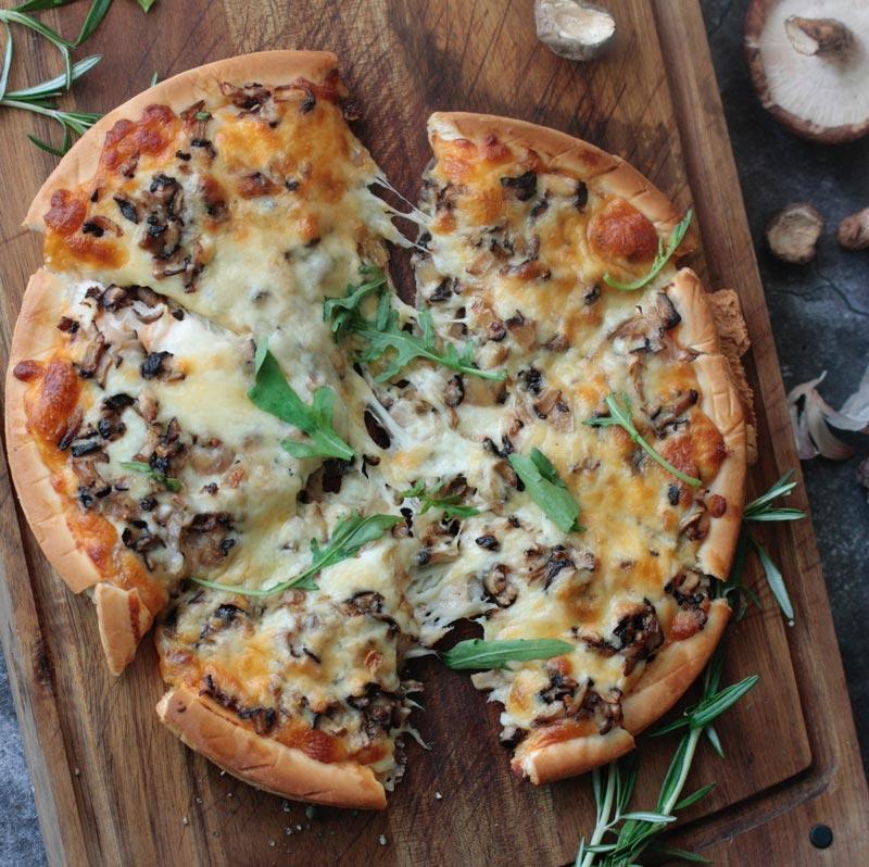 pizza casera receta