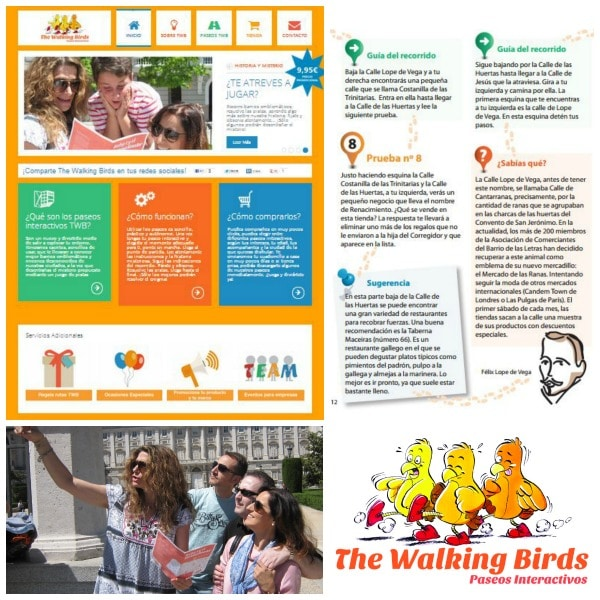 planes con niños the walking birds