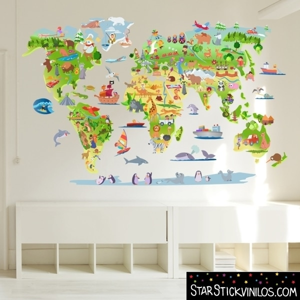 10 vinilos infantiles originales pequeocio for Stickers pared ninos