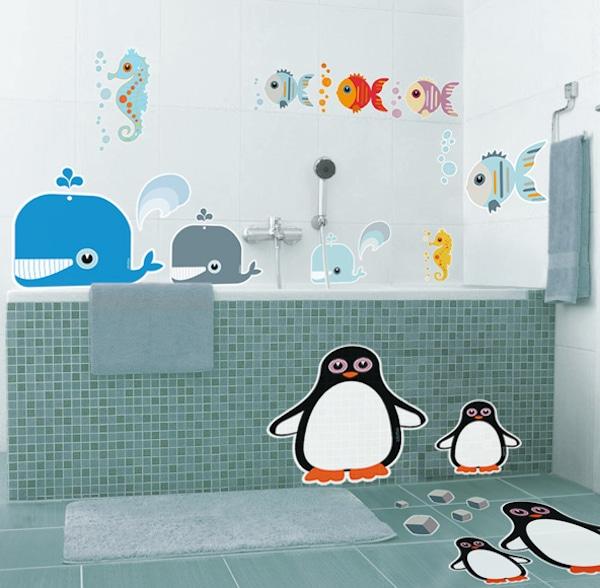 Vinilos infantiles para baño
